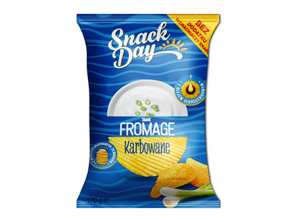 SNACK DAY Fromage chipsy, karbowane